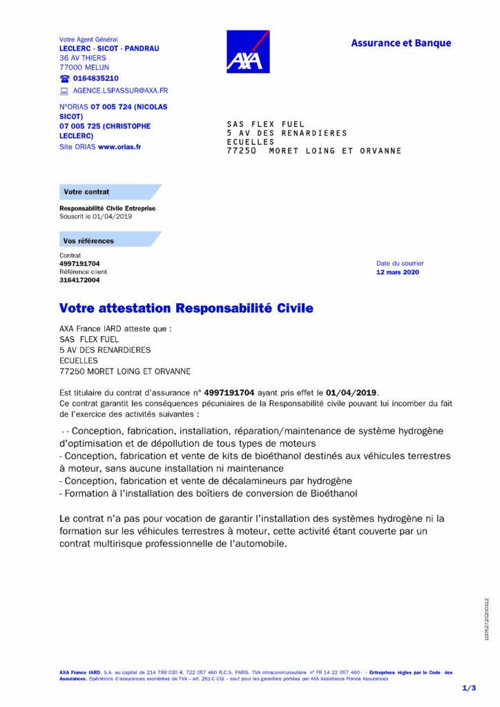 attestation responsabilité civile 1/3