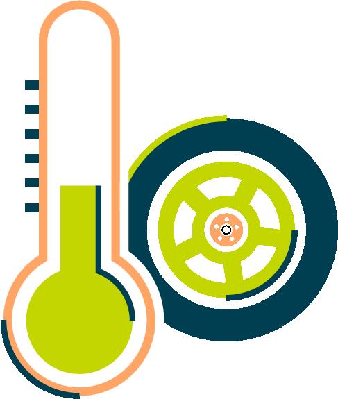 Pictogramme de l'adaptabilité des facteurs de démarrage à froid des dispositifs de conversion au Superéthanol FlexFuel Energy Development
